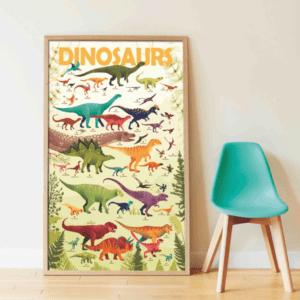 Poster géant autocollants Dinosaures POPPIK
