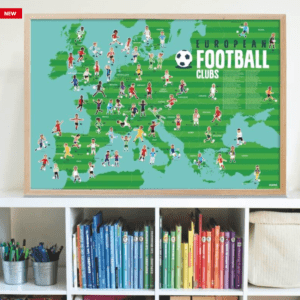 Poster géant autocollants Football POPPIK