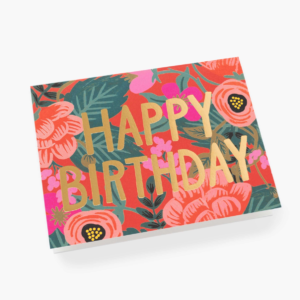 Carte Happy birthday fleurs orange RIFLEPAPER&CO